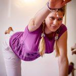 Vierfußstand-Stechout-Asana-Schwangerschaftsyoga